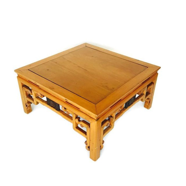 Vintage Carved Chinese Tibetan Coffee Table For Sale - Image 5 of 11