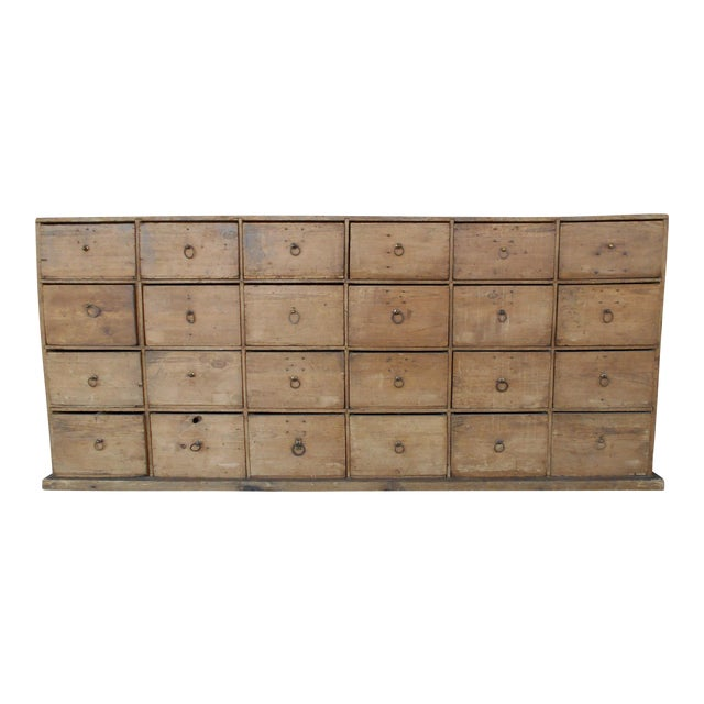 24 Drawer Pine Apothecary Cabinet For Sale