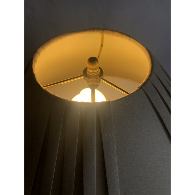 Enameled Brass Table Lamps - a Pair For Sale - Image 9 of 10