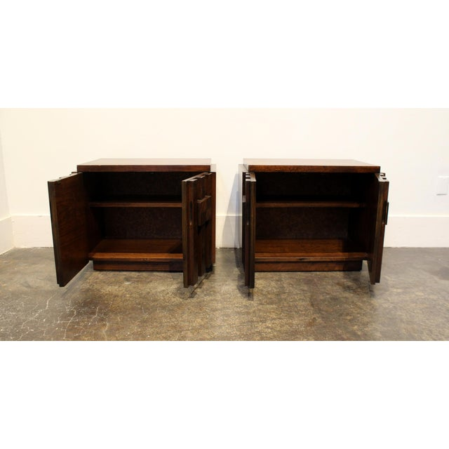 1970s Pair of 1970s Mid-Century Modern Brutalist Nightstands by Lane For Sale - Image 5 of 8