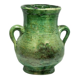 Moroccan Green Tamegroute Vase For Sale