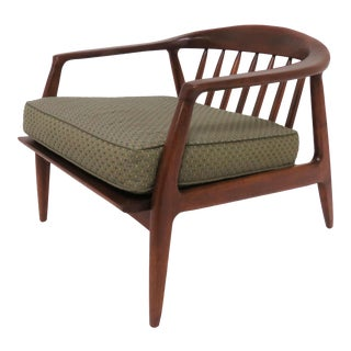 Milo Baughman Lounge Chair in Walnut, Circa 1950s For Sale