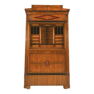 Biedermeier Memnon Secretaire Cabinet For Sale