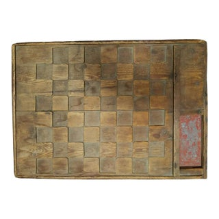 19th Century Carved Checker Board From Kennebunkport Maine For Sale