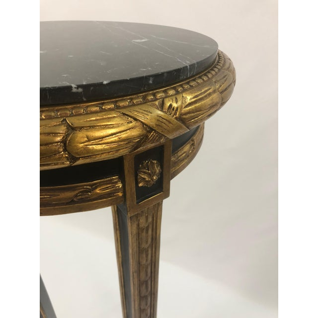 Regency Style Custom Black and Gold Stand For Sale - Image 4 of 10