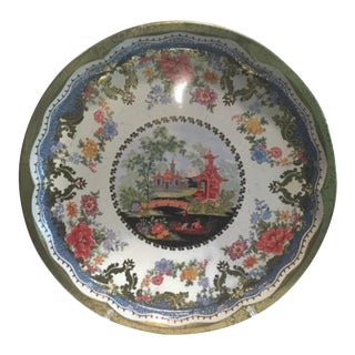 Mid-Century Daher Decorated Ware Chinoiserie Metal Tray