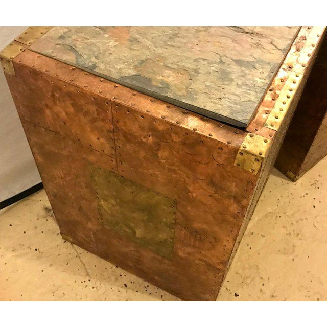 Pair of Mid-Century Modern Paul Evans Inspired End Tables or Pedestals For Sale In New York - Image 6 of 12