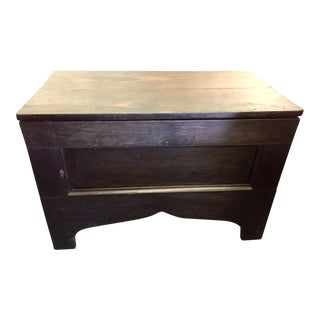 1930's Vintage Primitive Large Oak Trunk For Sale