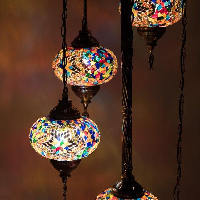 Turkish Handcrafted Multi Globe Mosaic Floor Lamps | Chairish