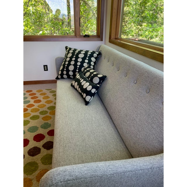 1960s Grey Upholstered Sofa For Sale - Image 4 of 9