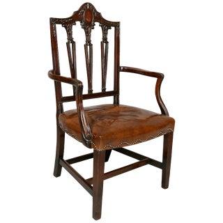Late Georgian Mahogany Guildmasters Armchair For Sale