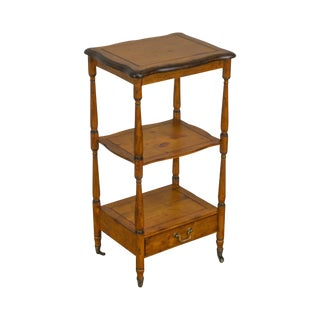 Accents Beyond Pine 3 Tier Small Etagere Stand With Drawer For Sale