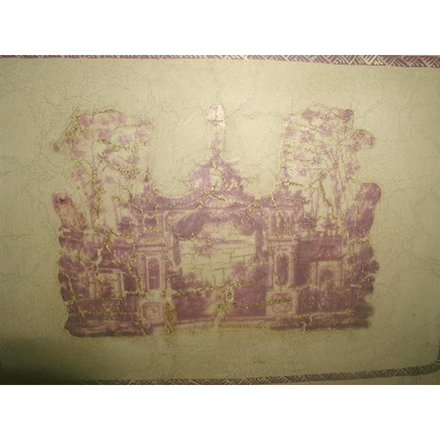 French Signed & Hand Painted French Trompe L'oeil Tray For Sale - Image 3 of 5