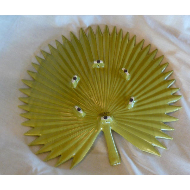 Global Views Global Views Palm Leaf Platter With Feet For Sale - Image 4 of 9