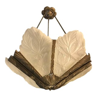 French Art Deco Pine Cone Chandelier For Sale