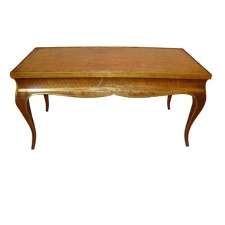 Hollywood Regency Style Jansen Gilt Gold Coffee Table For Sale
