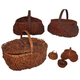 19th Century Basket Collection From Pennsylvania / 6 Pieces For Sale