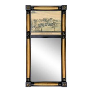 Split Baluster Trumeau Mirror of G U For Sale