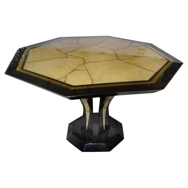 Italian Lacquered Faux-Marble Table - Image 1 of 6
