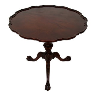 Chippendale Mahogany Side Table For Sale