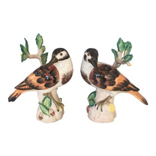Chelsea House Italian Ceramic Birds - a Pair