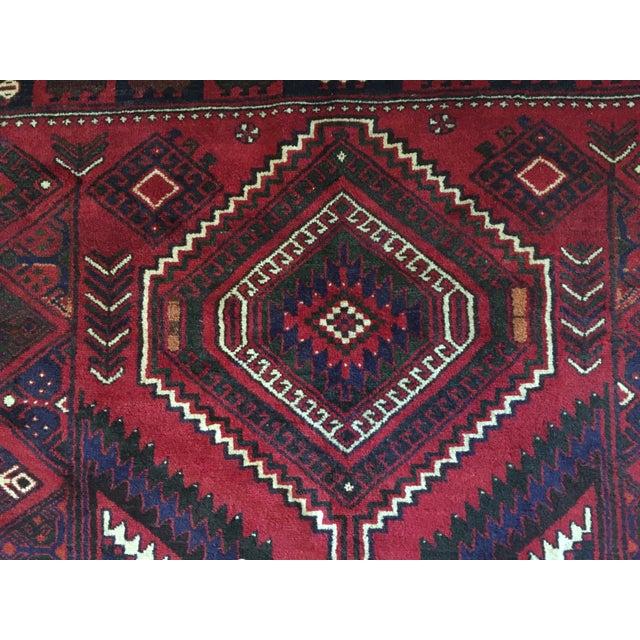 Handmade Persian Luri Rug - 7″ × 11″ - Image 7 of 11