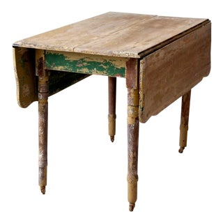Antique Painted Drop Leaf Table For Sale