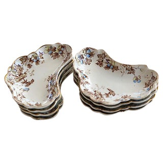 English Ironstone Side Dishes - Set of 8 For Sale