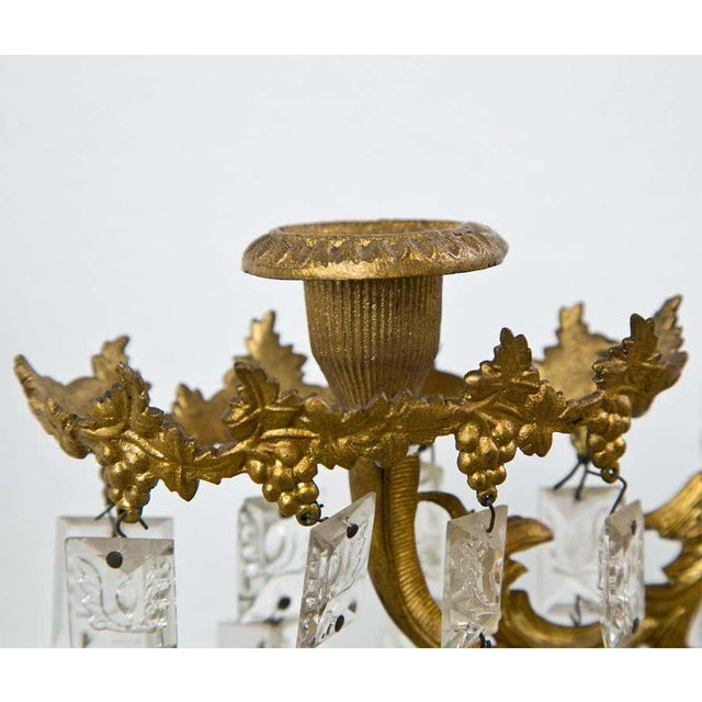 1900 - 1909 Set of Three French Belle Époque Style Candelabras For Sale - Image 5 of 11