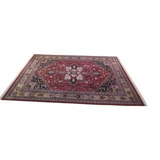 1990s Persian Heriz Wool Rug - 12′ × 16′4″ For Sale