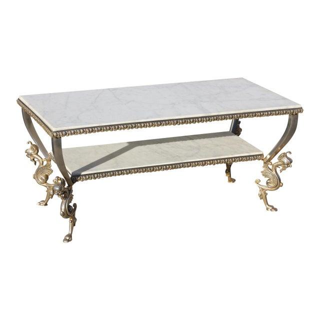 1940s Art Nouveau Maison Jansen Two-Tier Bronze ''Dragon Leg'' Coffee Table For Sale - Image 12 of 12