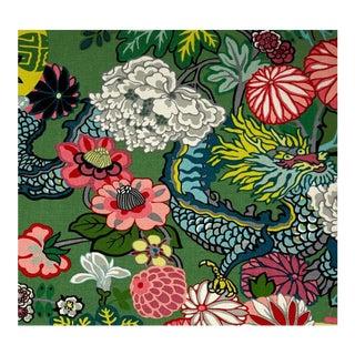 Schumacher Chiang Mai Dragon Jade Fabric - 1 Yard