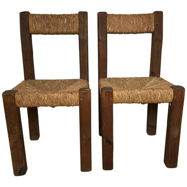 Mid 19th Century Pair of 19th Century French Side Chairs For Sale - Image 5 of 5