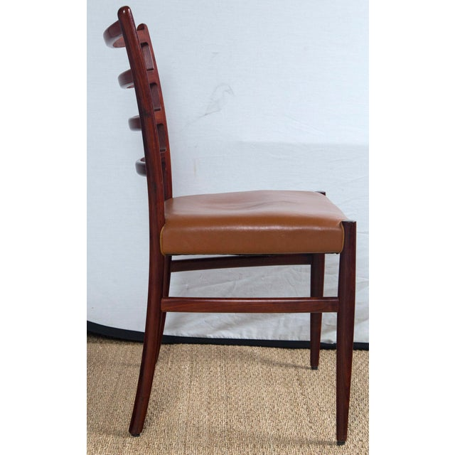 Rosewood Game Table & 4 Chairs For Sale - Image 10 of 13
