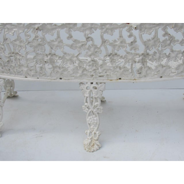 Victorian Cast Iron Footed Garden Bench - Image 5 of 7