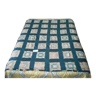 20th Century Hand Made Tied Quilt For Sale