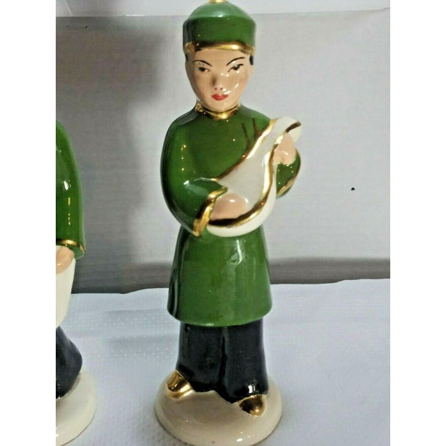 Vintage M. Craver Asian Couple Porcelain Figurines - a Pair For Sale - Image 6 of 9