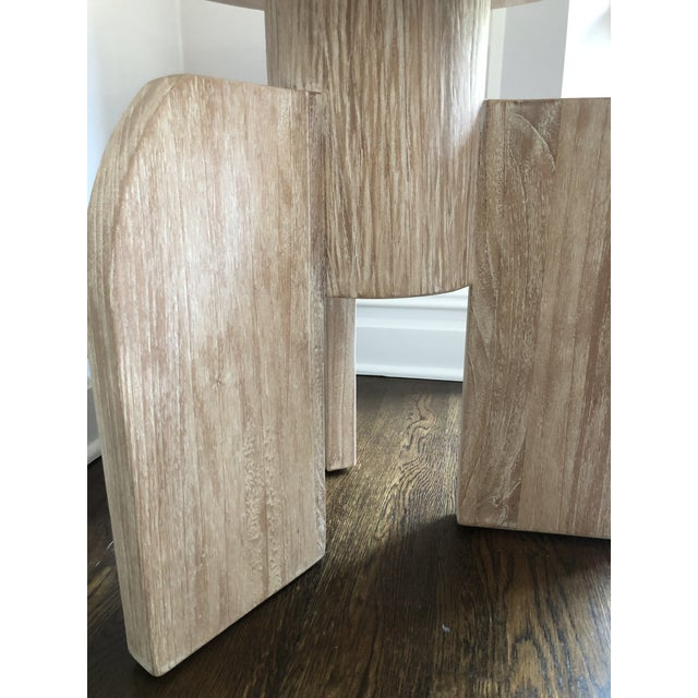 2010s Contemporary Noir Sculptural Distressed Wood Side Table For Sale - Image 5 of 6
