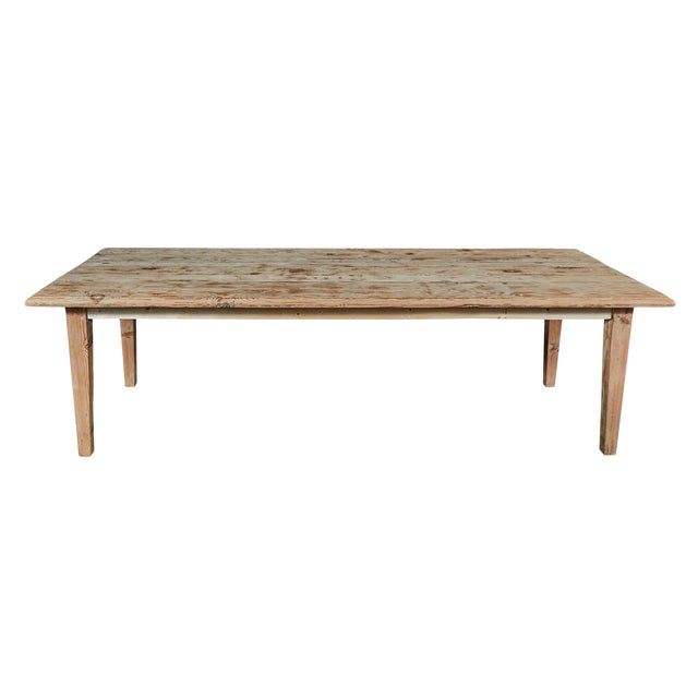 Large Pine Rustic Dining Table For Sale