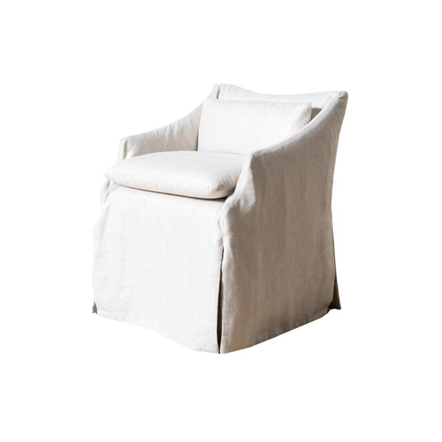Modern Lowback Campaign Chair For Sale