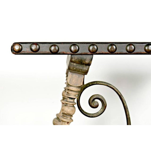 1920s Oscar Bach Art Deco Leather Top Console For Sale In Birmingham - Image 6 of 10
