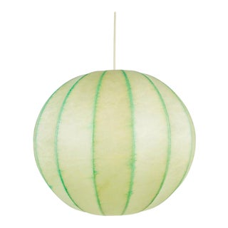 Mid-Century Modern Round Cocoon Pendant Lamp, 1960s, Italy For Sale