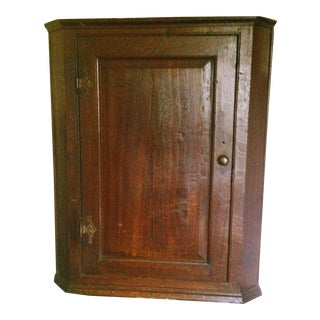 Late 1800s Georgian Corner Cupboard For Sale