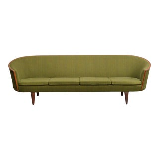 Exquisite Rare Mid-Century Barrel Back Sofa For Sale
