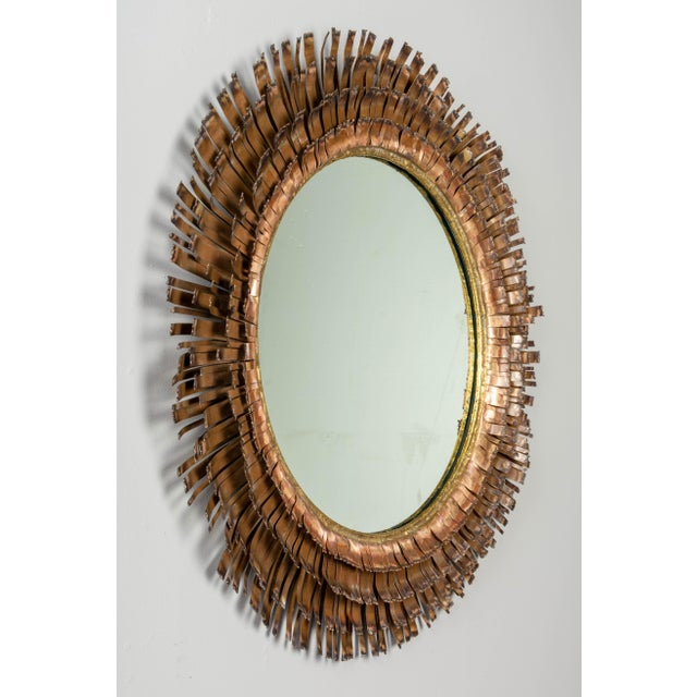 Curtis Jere Copper Eyelash Mirror For Sale - Image 9 of 12