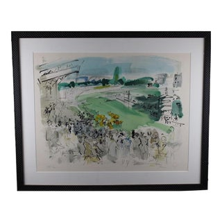 "1950s Vintage Raoul Dufy ""Courses à Deauville"" Print Signed and Numbered For Sale"