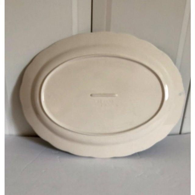 Large Blue & White Japanese Platter For Sale - Image 4 of 5