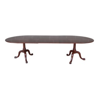 HENKEL HARRIS Cherry Double Pedestal Dining Extension Table #2209