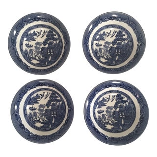 "Johnson Bros. English ""Blue Willow"" Ceramic Bowls - Set of 4 For Sale"
