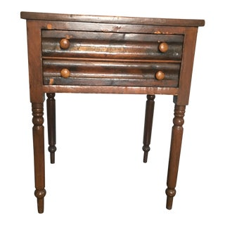 1830s Federal Two Drawer Table For Sale